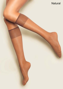 Andrea Bucci Andrea Bucci 10 Denier Silk Satin Sheen Knee High 2 Pair Pack