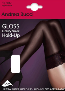 Andrea Bucci Andrea Bucci 15 Denier Gloss Sheer Luxury Lace Top Hold Ups