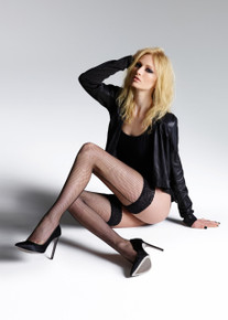 Jonathan Aston Jonathan Aston Vintage Legs Fishnet Backseam and Heels Hold Ups