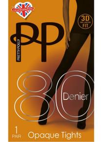 Pretty Polly Pretty Polly 80 Denier 3D Opaque Tights
