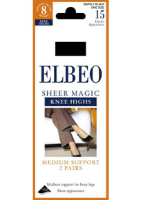 Elbeo Elbeo 15D Sheer Magic Knee Highs 2 Pair Pack