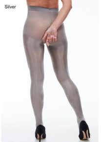 Miss Naughty Miss Naughty Metallic Shine Crotchless Tights