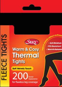 Silky Silky 200 Denier Fleece Tights