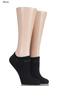ELLE ELLE Plain Bamboo No Show Socks - 2 Pair