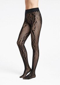 Wolford Wolford Crossband Net Tights