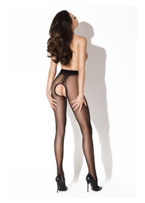 Amour Hip Gloss 20D Crotchless Tights