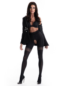 Amour Glamour 80D Crotchless Tights