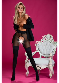 Amour Secretary 30/60D Crotchless Tights