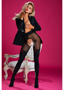 Amour French Kiss 30/60D Crotchless Tights