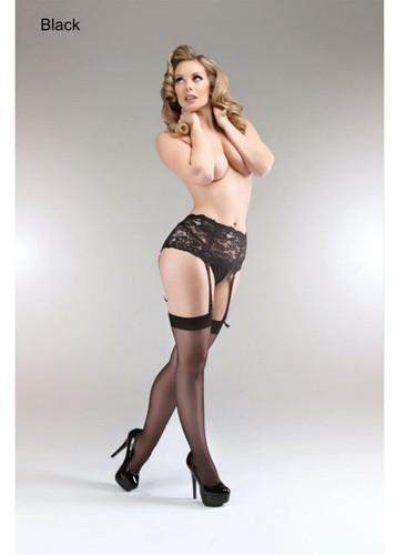 Miss Naughty Miss Naughty Deep Lace Suspender Belt