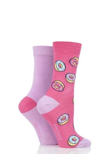 Sockshop Sockshop Ladies Patterned Bamboo Socks - 2 Pair
