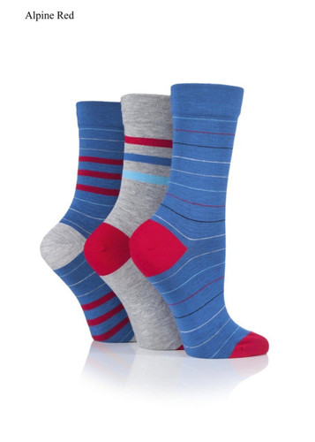 Sockshop Sockshop Ladies Gentle Striped Bamboo Socks -3 Pair