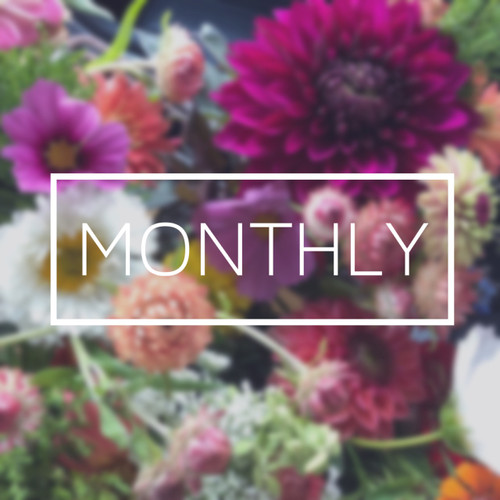 2020 Monthly Flower Subscription {5 Bouquets}