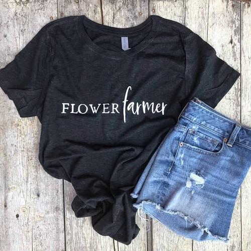 Flower Farmer, Flower Farmer Shirt, Crew Shirt, Flower Farming, Apparel