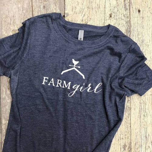 Farm Girl Crew Shirt, Farm Girl Shirt, Chicken, Rooster, Weather Vane, Barn Roof, Farm Girl Gift