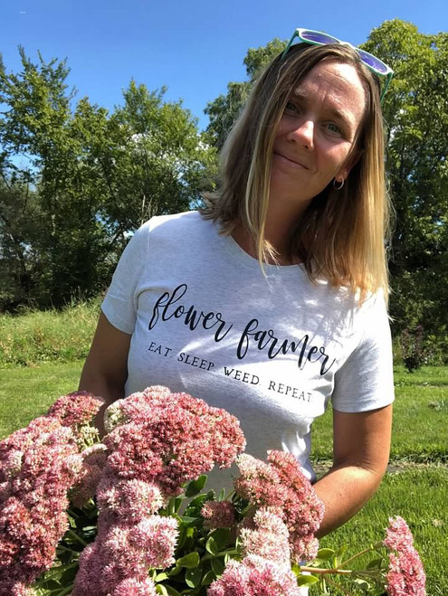 Flower Farmer, Eat Sleep Weed Repeat, Flower Farming Gift, Flower Farmer Shirt, Crew Shirt