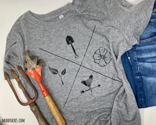 Shovel, Seedling, Flower, Weathervane, Chicken, Farm, shirt, t-shirt, farm life