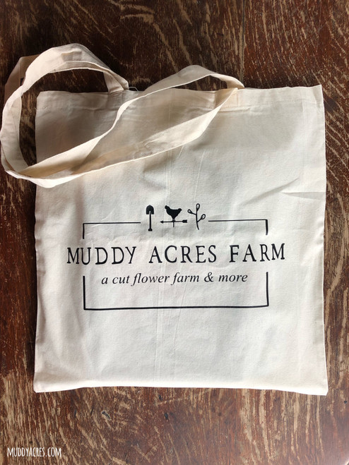 Muddy Acres Farm Tote, Tote Bag, Market Tote, Lightweight, Cotton