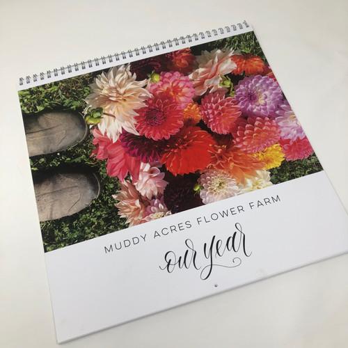 2020 calendar, calendar, wall, hanging calendar, flowers, flower calendar