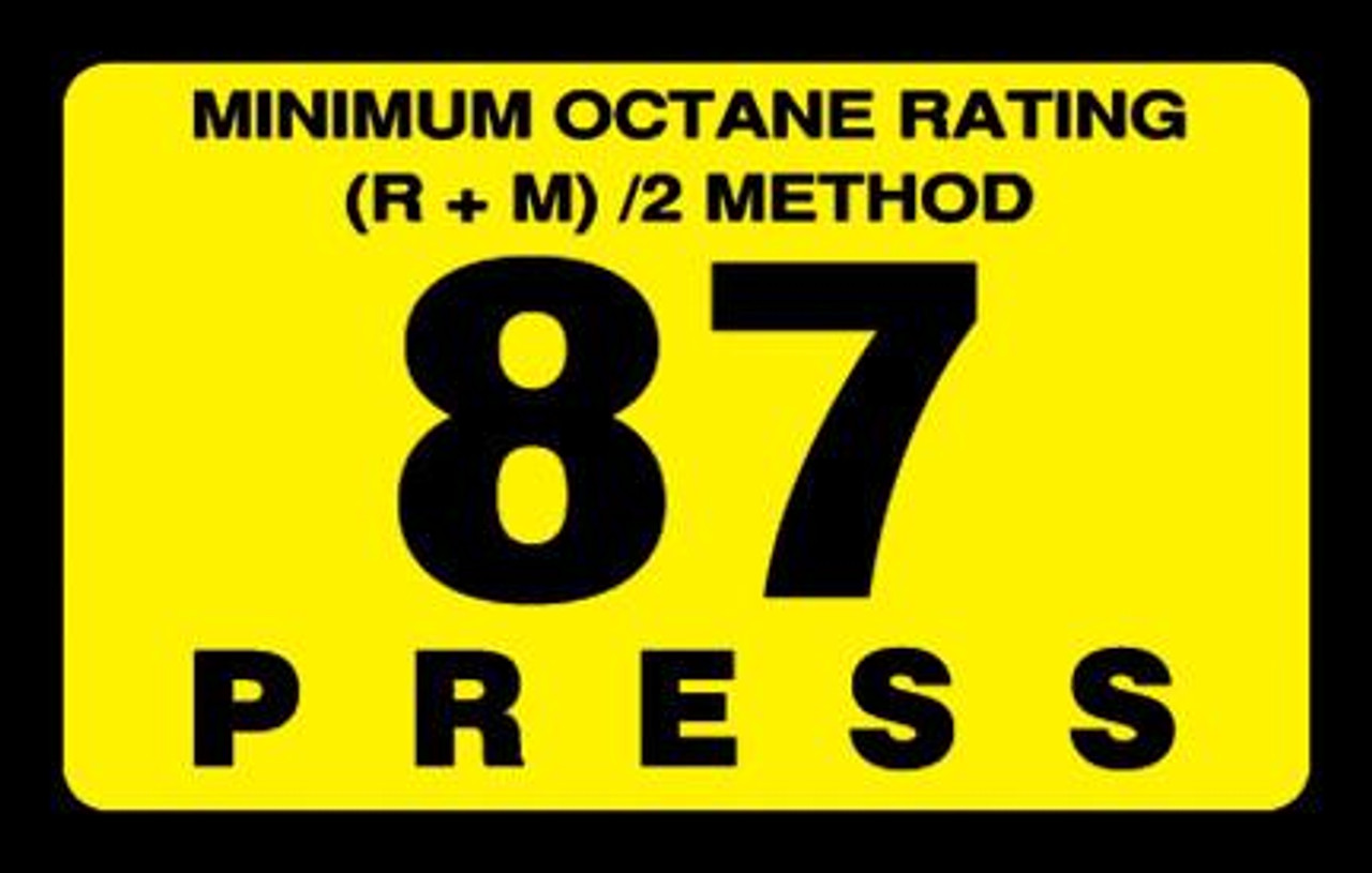 ORS-87 - Octane Rating Decal