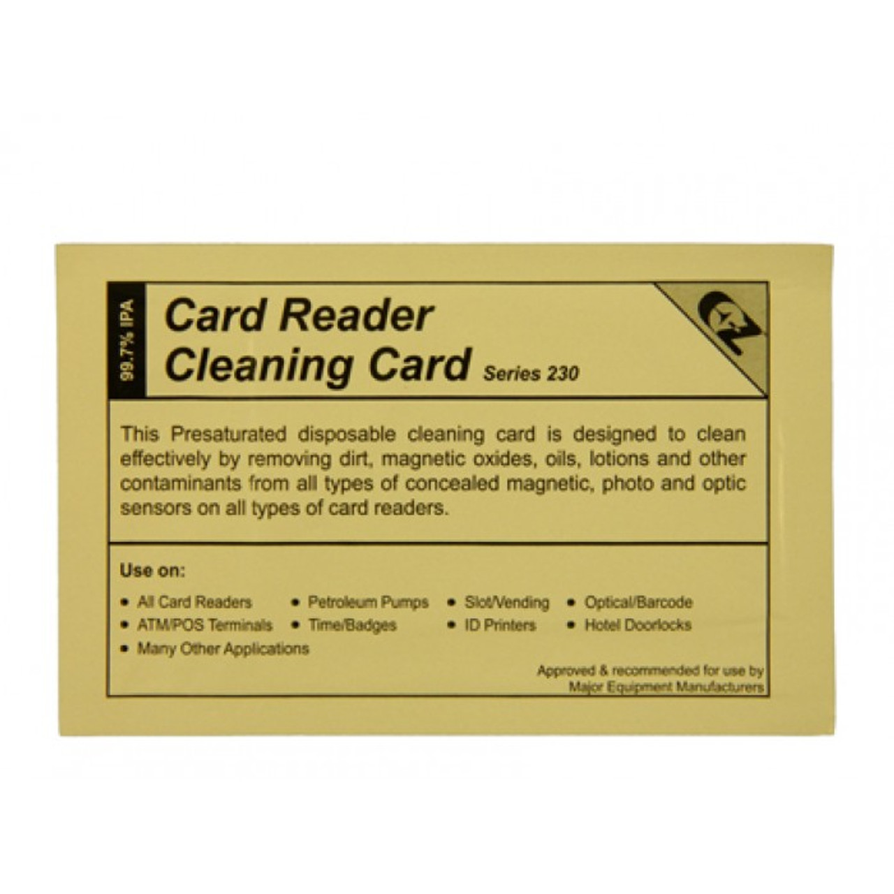 Q11482 - Card Reader Cleaning Card