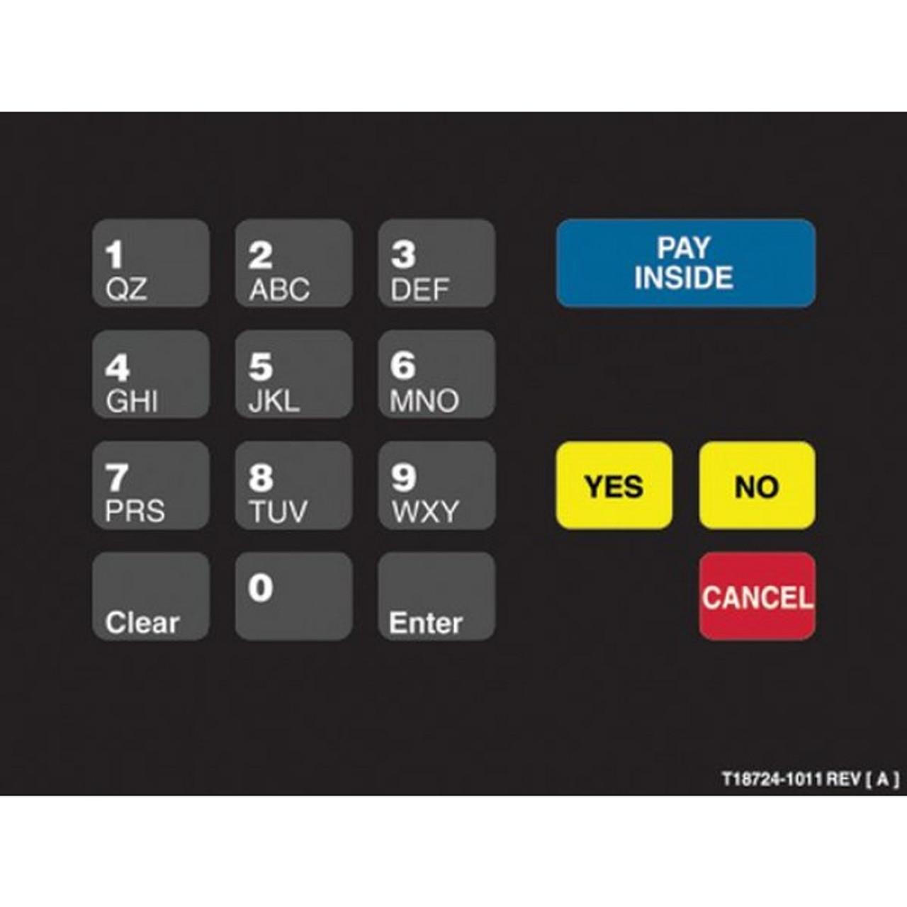 T18724-1011 - Holiday Crind Keypad Overlay