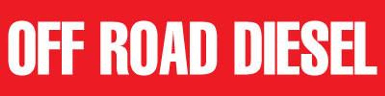 """PID-321 - 12"""" x 3"""" Decal - Off Road Diesel"""