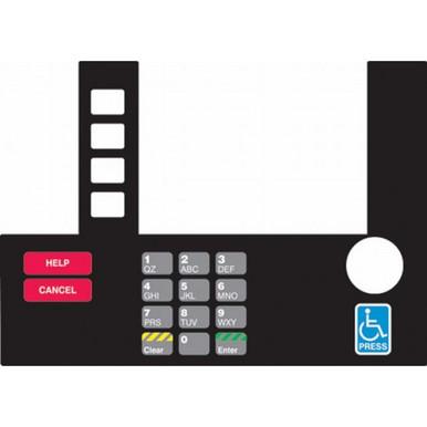 T19525-03 Monochrome Infoscreen Keypad