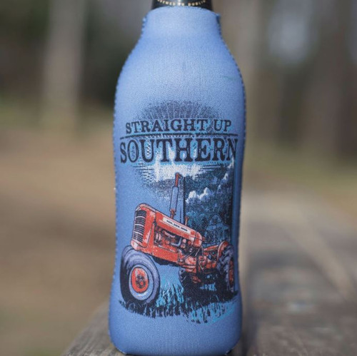 Sunshine Tractor-Bottle Koozie w/ Zipper Bottle Opener