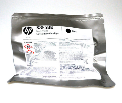 HP 2580 Solvent Ink Cartridge