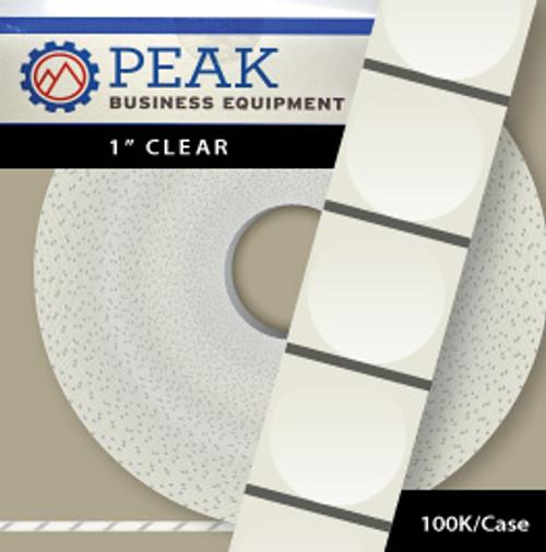 "Wafer Seals - 1"" Round Clear, Qty 100K"