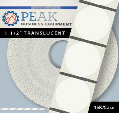 "Wafer Seals, 1.5"" Translucent, Qty 45K"