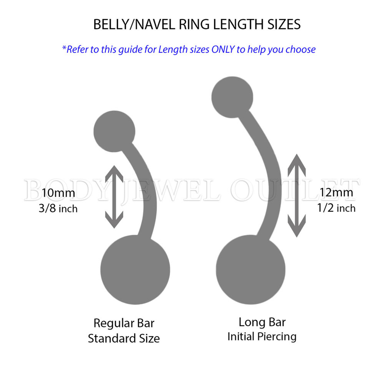 White GLOW in the Dark Acrylic Balls - Bio Flex Acrylic Belly/Navel Ring Piercing - 14 Gauge (1 Piece)