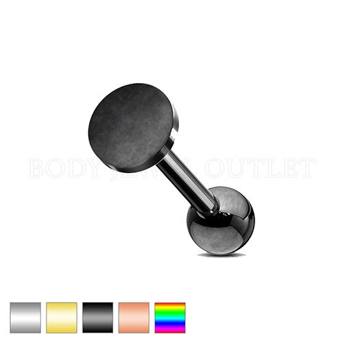 Ear Cartilage piercing Black Steel Stud | BodyJewelOutlet