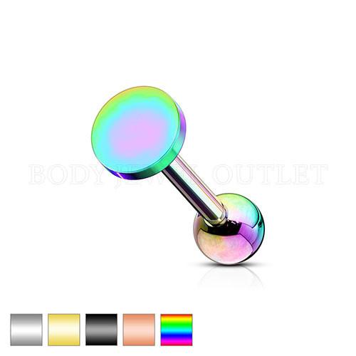 Ear Cartilage piercing Rainbow Steel Stud | BodyJewelOutlet