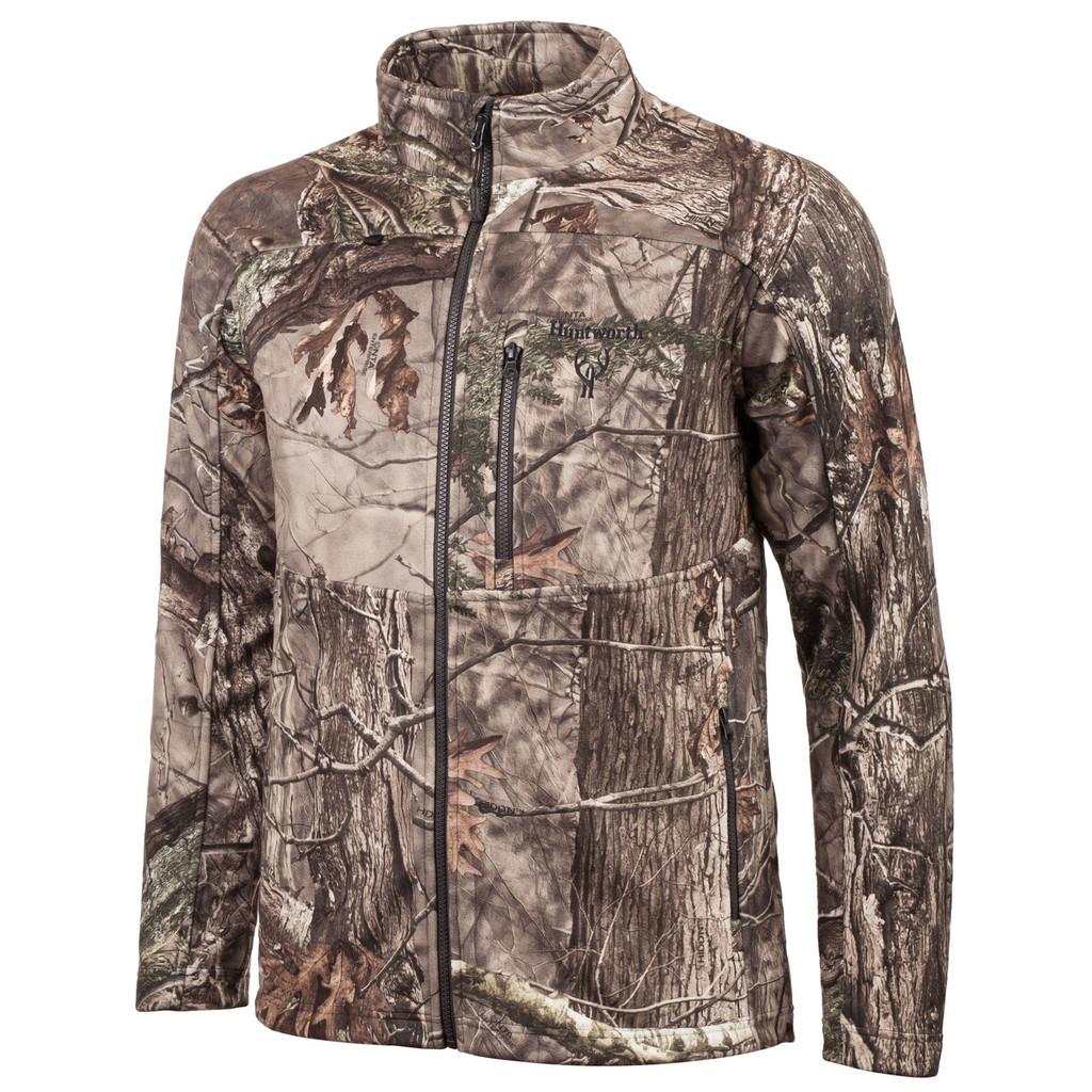 Men's Mid Weight Soft Shell Jacket, Waffle Fleece Interior (Hidd'n®)