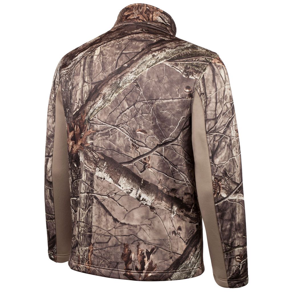 Rear view: Hidd'n® Jacket -  Water resistant, stretch polyester.