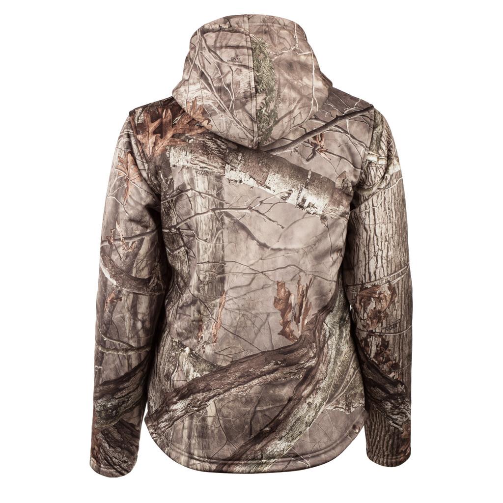 Rear view: Hidd'n® pattern Jacket - Drop tail hem.