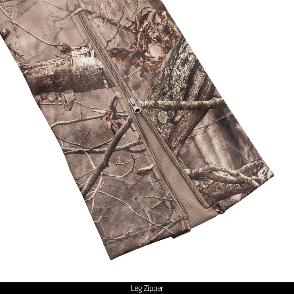 midweight Hunting Pants - Leg zipper.