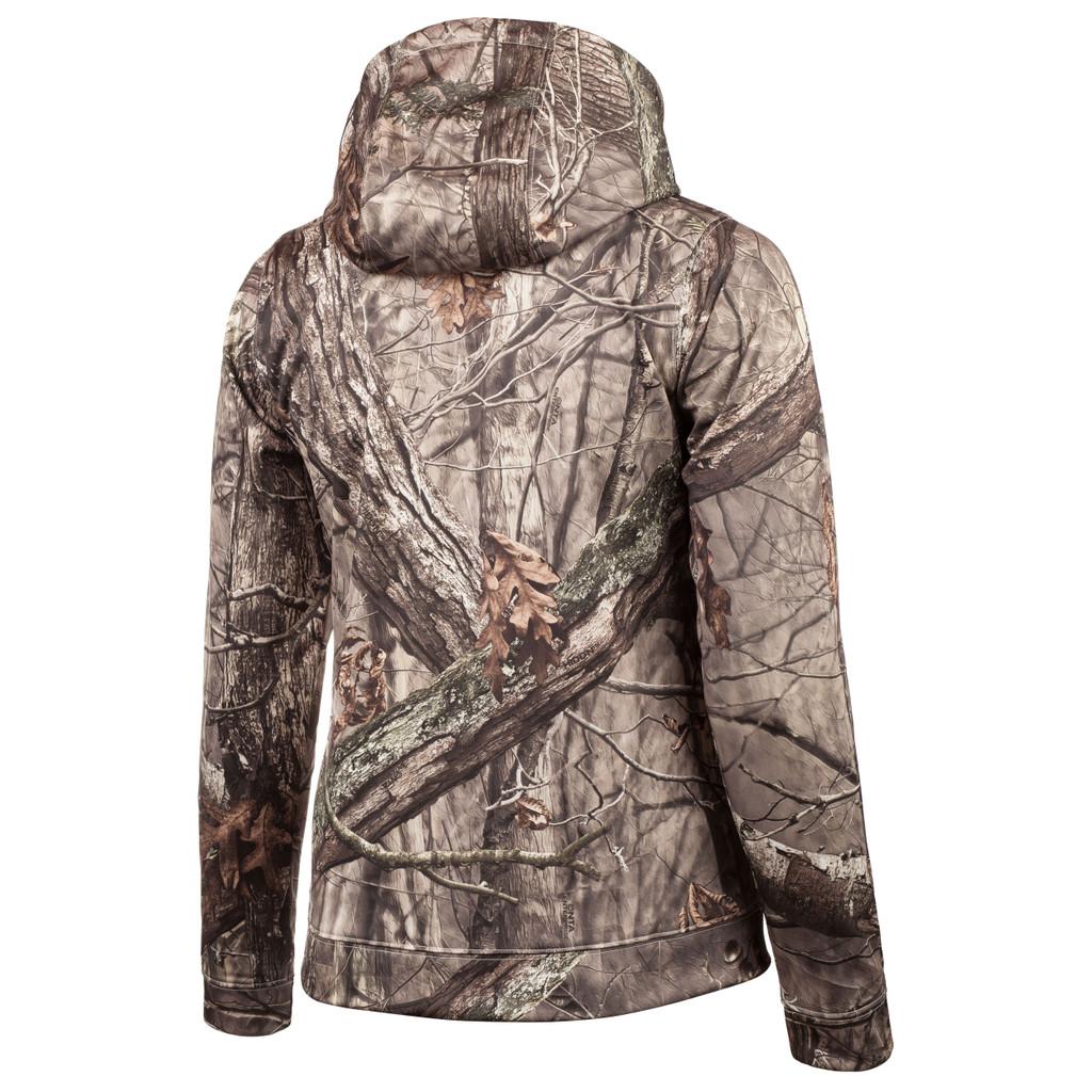 Rear view: Hidd'n® pattern Hoodie - 100% polyester.