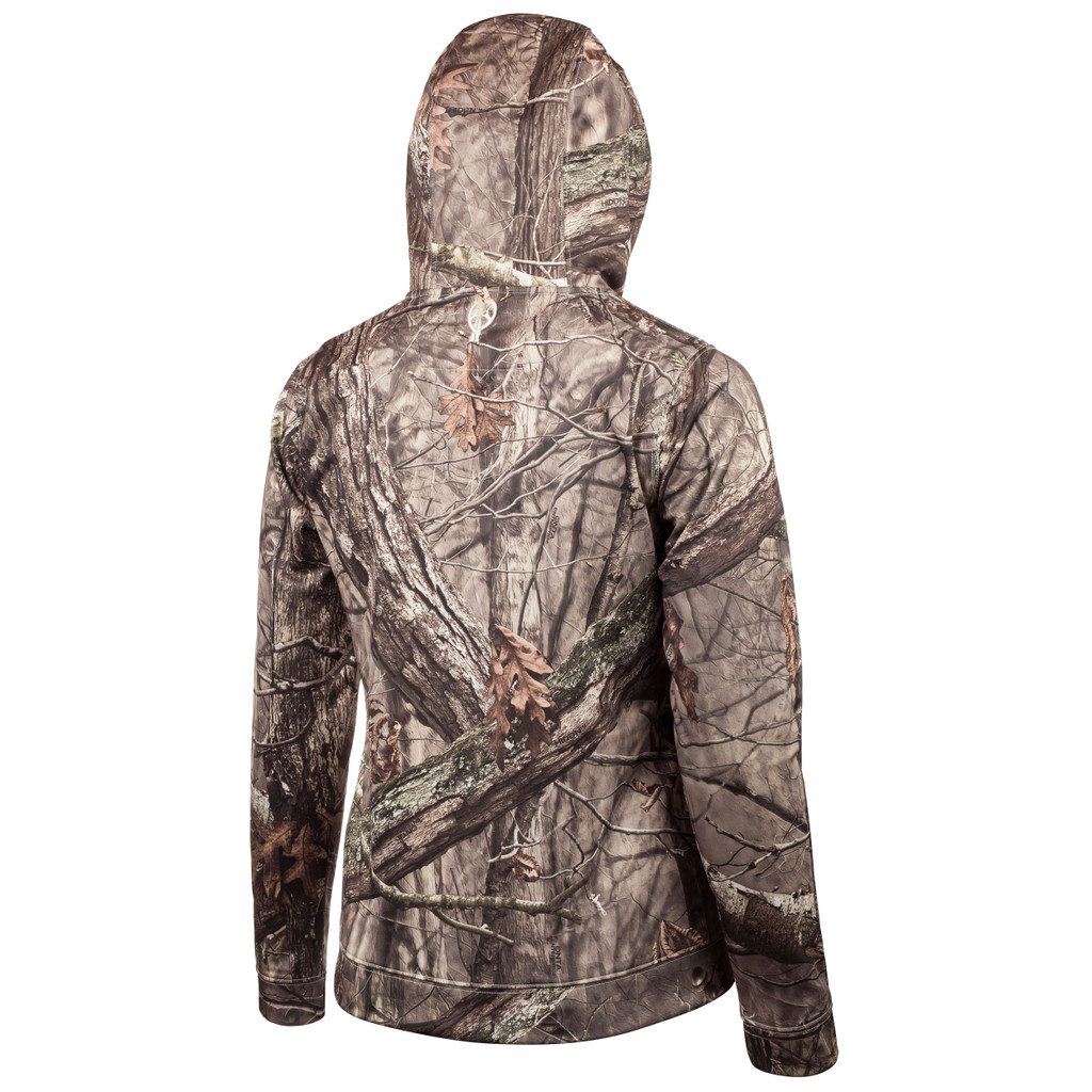 midweight Hunting Hoodie - Fully lined hood.
