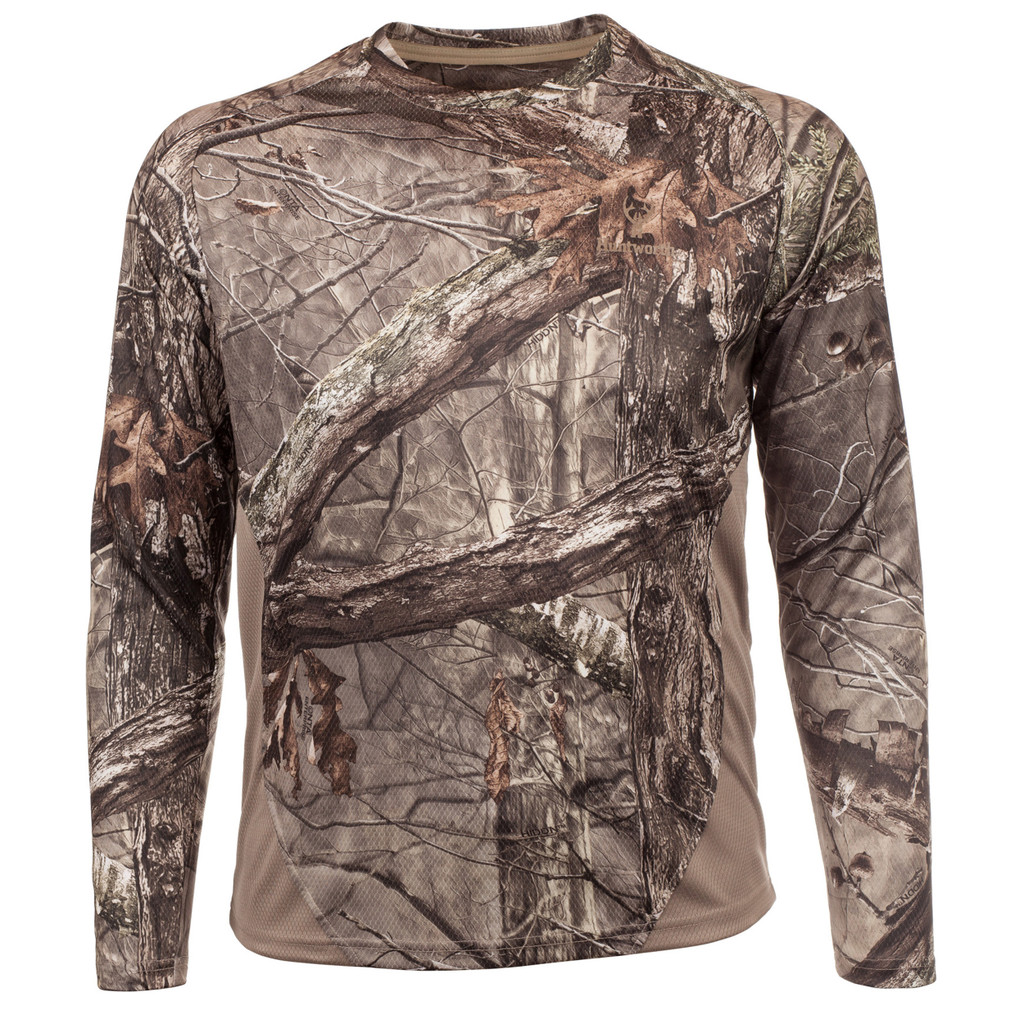Rear view: Hidd'n® Long Sleeve Shirt - Relaxed fit.