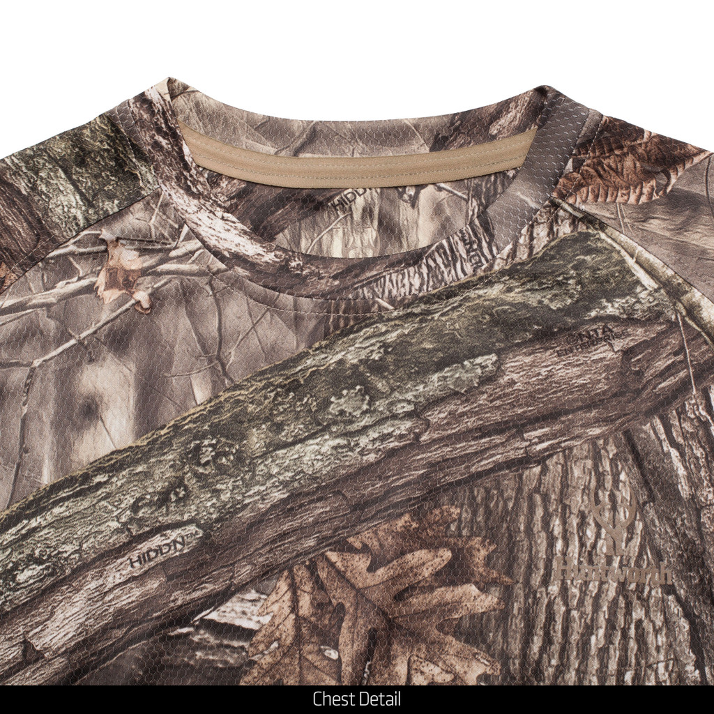 Light Weight Wicking Hunting Shirt - Tag free collar.