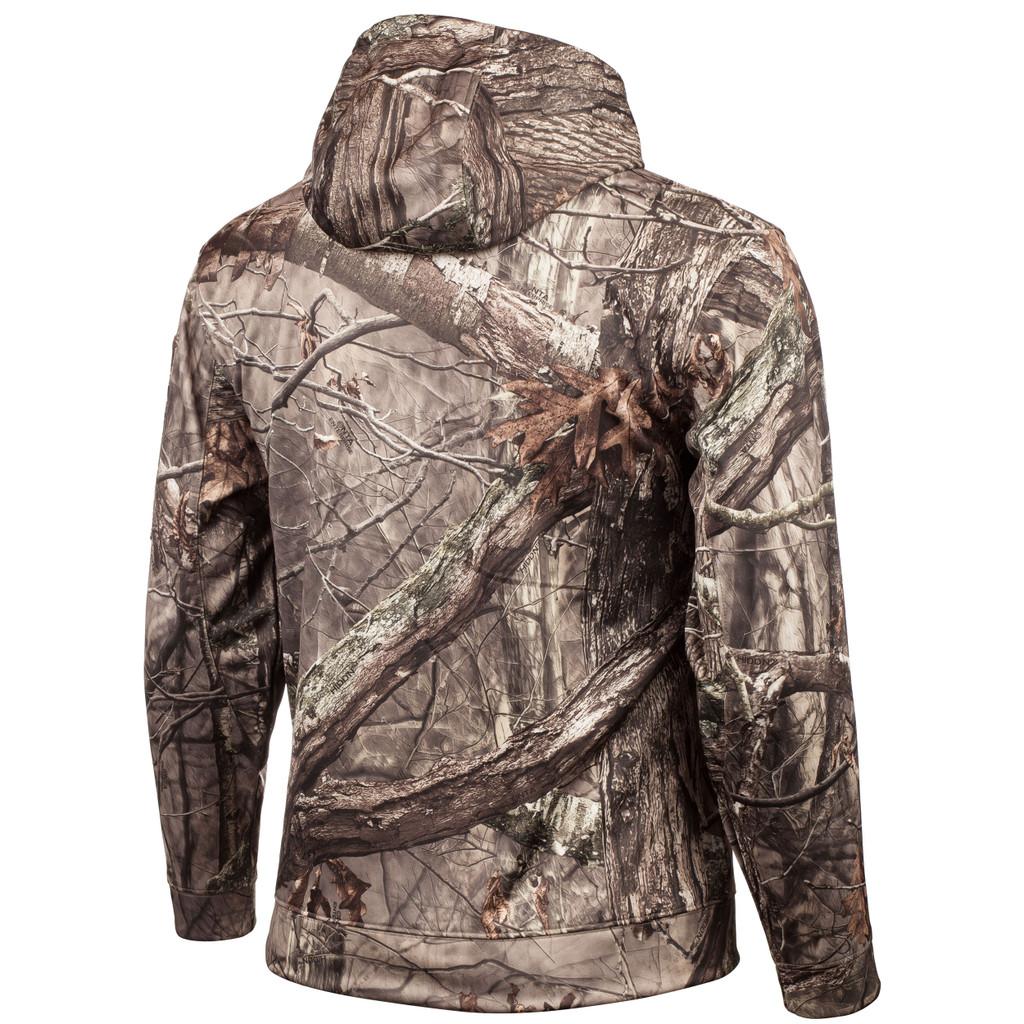 Rear view: Hidd'n® Hoodie - 100% polyester.