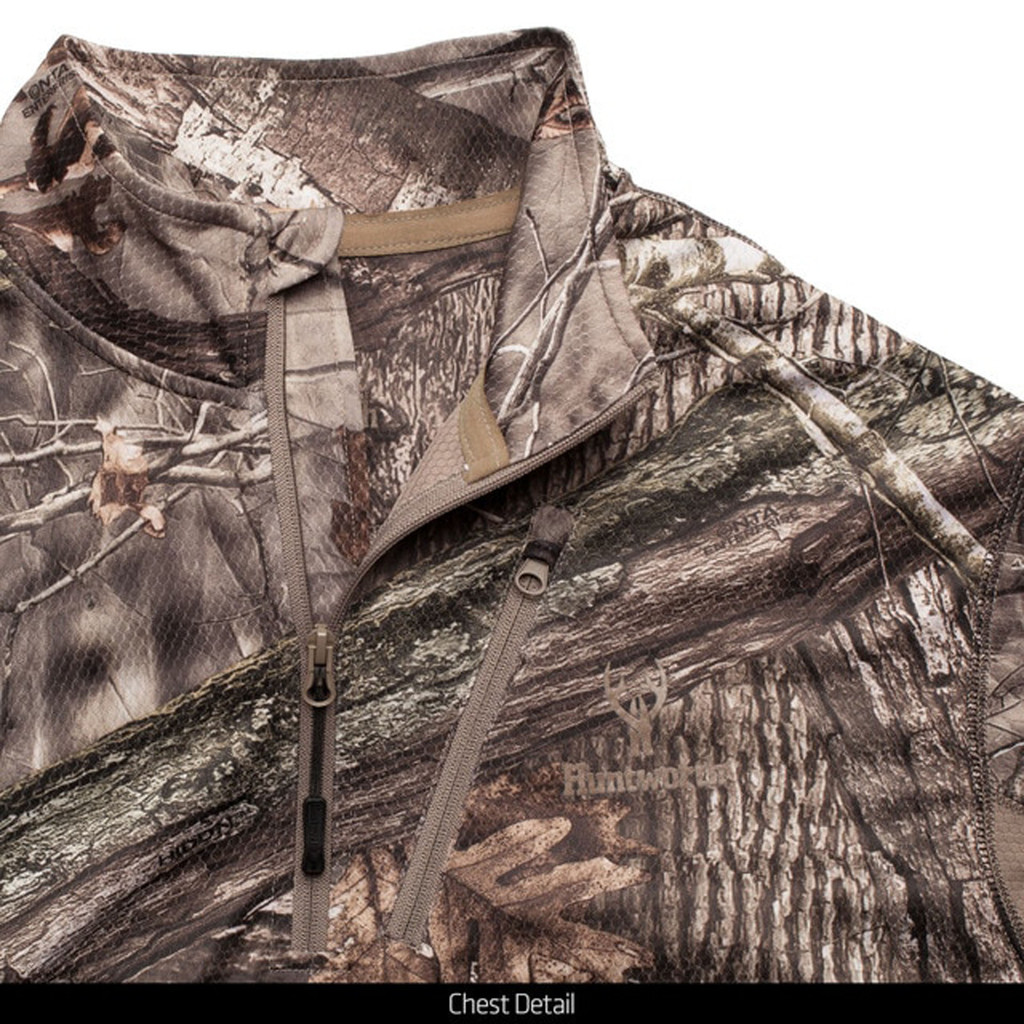 Light Weight Hunting Pullover - Chest detail.
