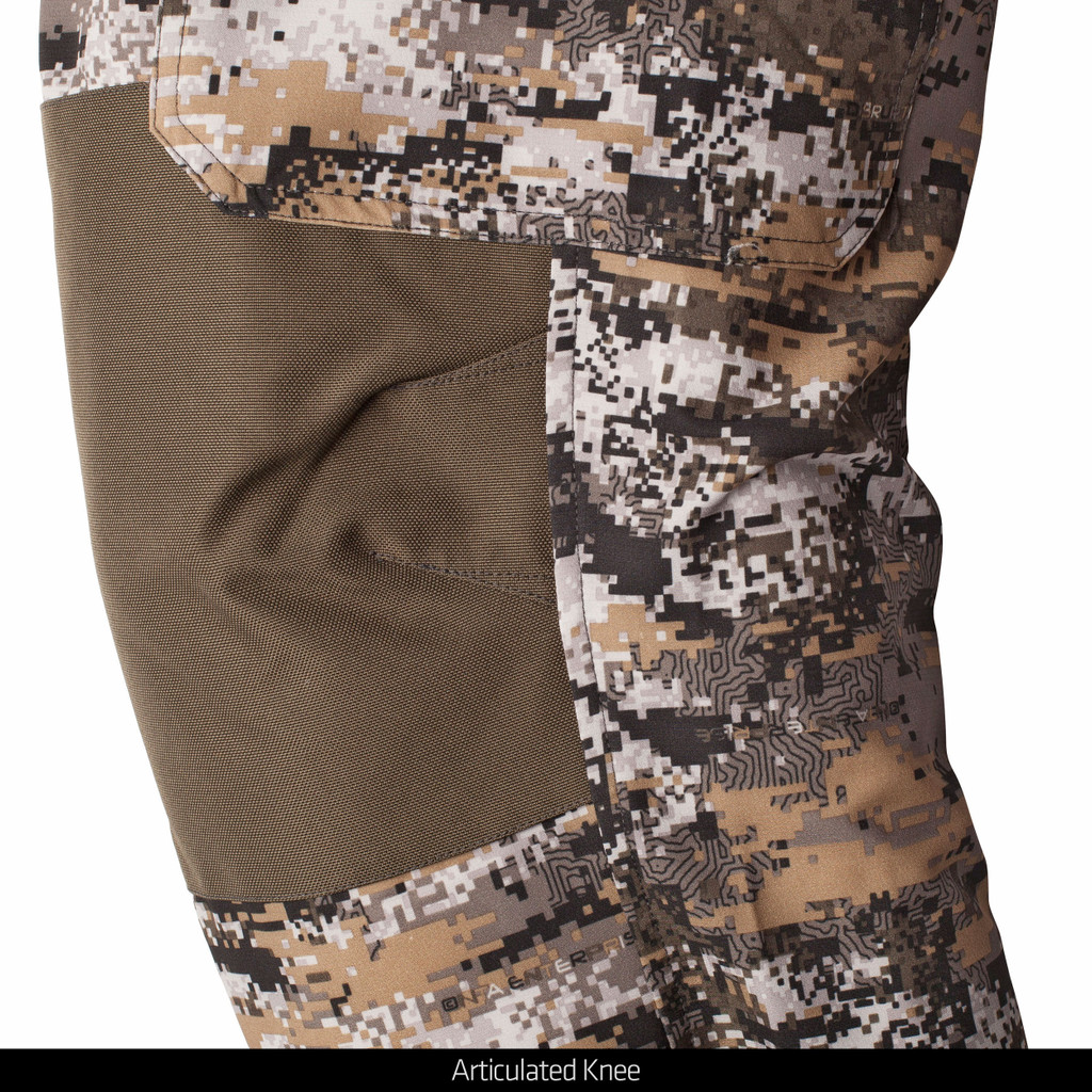 Lightweight hunting pants - reinforced knees patches and articulated knees.