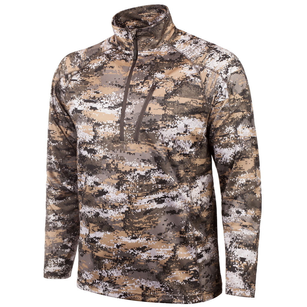 Men's Disruption® pattern Light Weight 1/4 Zip Pullover.