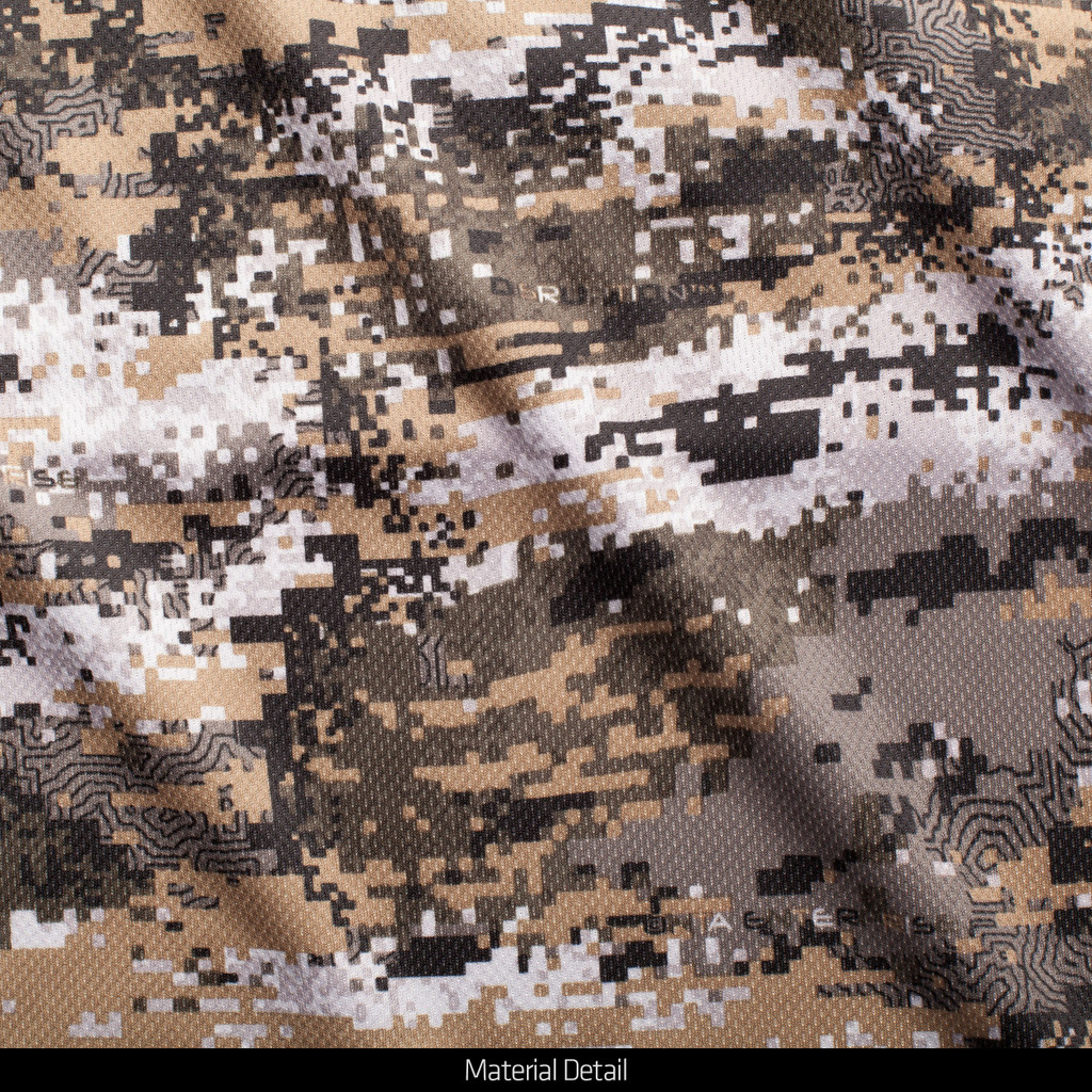 Light Weight camo hunting 1/4 Zip Pullover - Disruption® pattern.