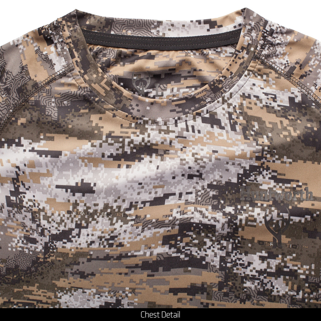 Light Weight camo hunting Long Sleeve Shirt - Performance polyester.