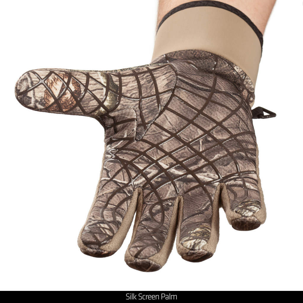 Unlined midweight Hunting Gloves - Silk screen palm.